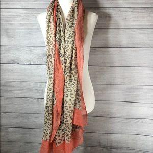 !! FREE GIFT !! Pink & Cheetah Print Scarf